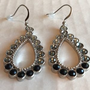 Charter Club Ombré silver crystal drop earrings